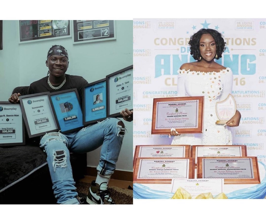 winning-family!-dr.-louisa-displays-her-plaques-alongside-stonebwoy's-to-encourage-their-kids-to-do-same