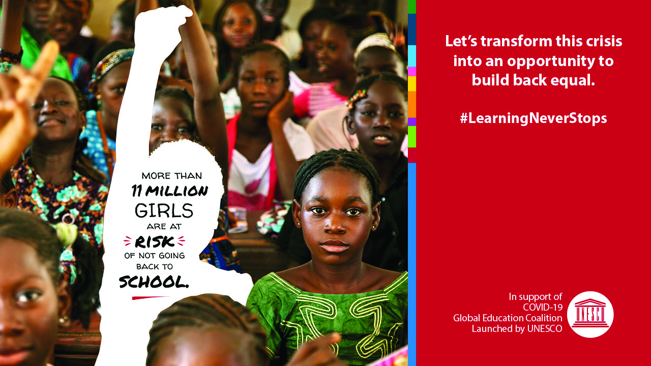 covid-19:-unesco-and-partners-in-education-launch-global-campaign-to-keep-girls-in-the-picture