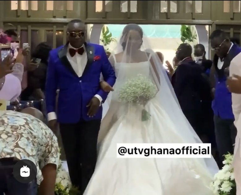 watch:-arrival-of-bride-and-groom-at-the-wedding-ceremony-of-cindy,-daughter-of-ce.o-of-special-ice,-ernest-ofori-sarpong