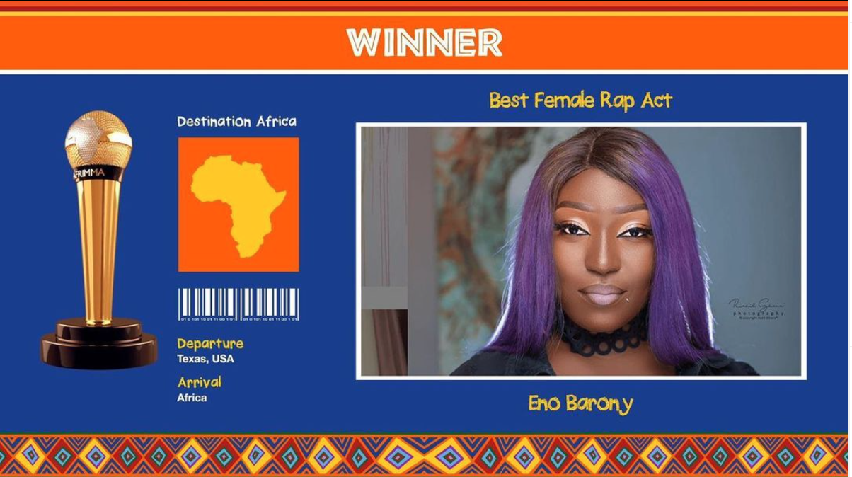 """eno-barony-wins-""""best-female-rap-act""""-at-afrimma-2020"""