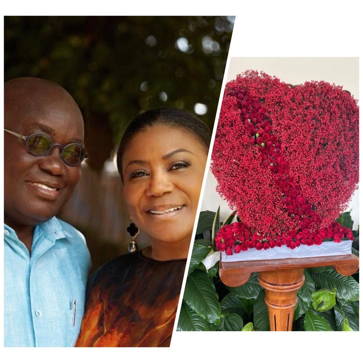 check-out-the-big-bouquet-of-flowers-prez.-nana-akufo-addo-sent-the-first-lady-on-val's-day