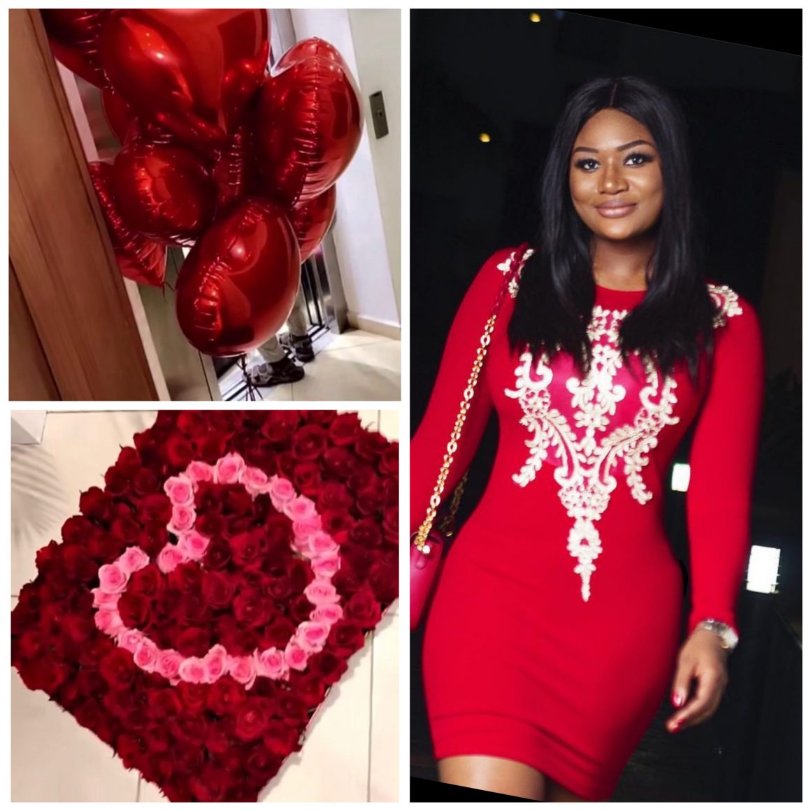 valentine'sday2021:-sandra-ankobiah-received-250-roses-from-an-anonymous-sender