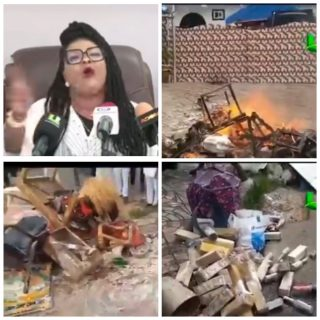 "nana-agradaa,-now-evangelist,-burns-her-""gods""-and-shrine"