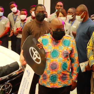 watch:-toyota-tsusho-commissions-assembly-plant,-unveils-first-line-of-toyota-hilux-from-ghana